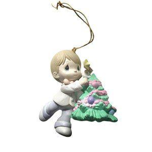 Precious Moments Holiday Ornament Boy Christmas